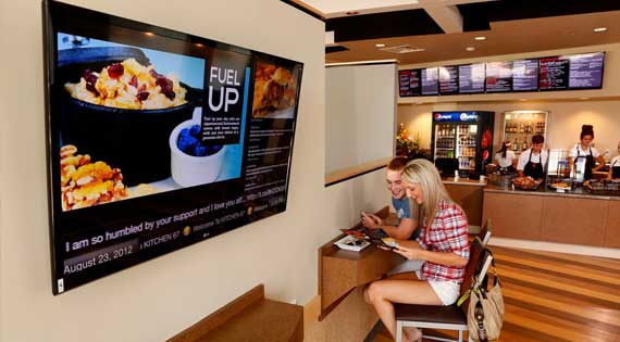 Digital Signage for Cafe & Restaurants