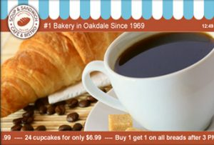 Digital Signage Templates Bakery and Cafe