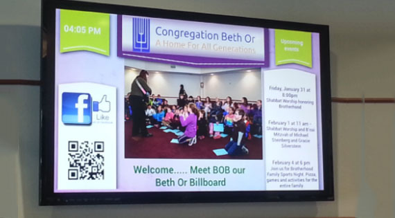 Digital Signage for Community & religious organizations