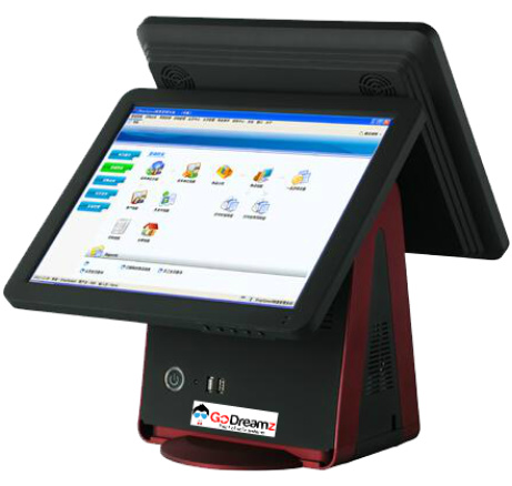 Zloud D-Series- OS System with 15 Inch Dual Touch Screen