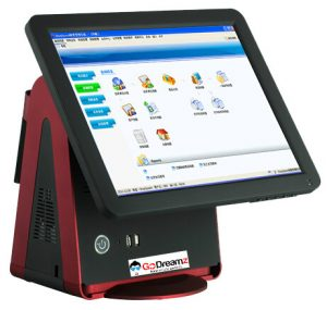 Zloud K-Series - POS System with 15 Inch Touch Screen & VFD Customer Display
