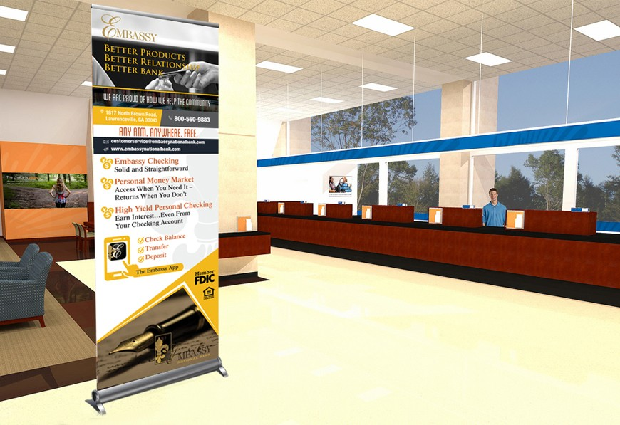 Design Bank Sale.Embassy Bank Personal Banking Banner Online Marketing Company